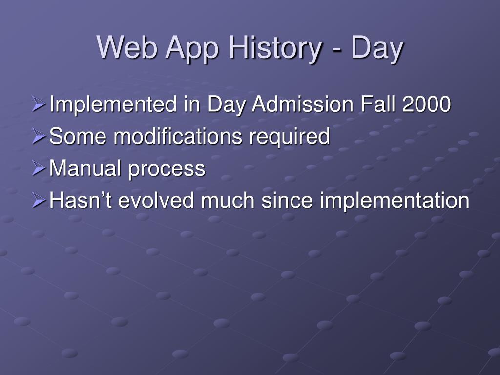 Web App History - Day