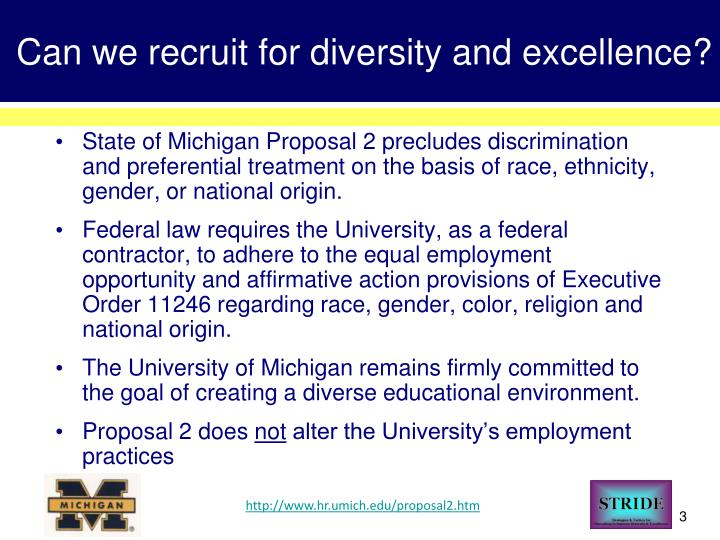 Can we recruit for diversity and excellence