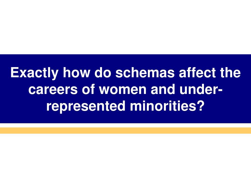 Exactly how do schemas affect the careers of women and under-represented minorities?