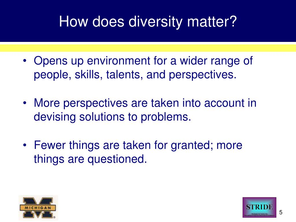 How does diversity matter?