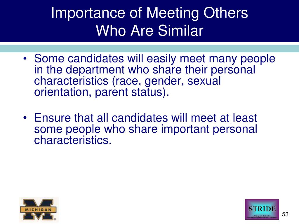Importance of Meeting Others