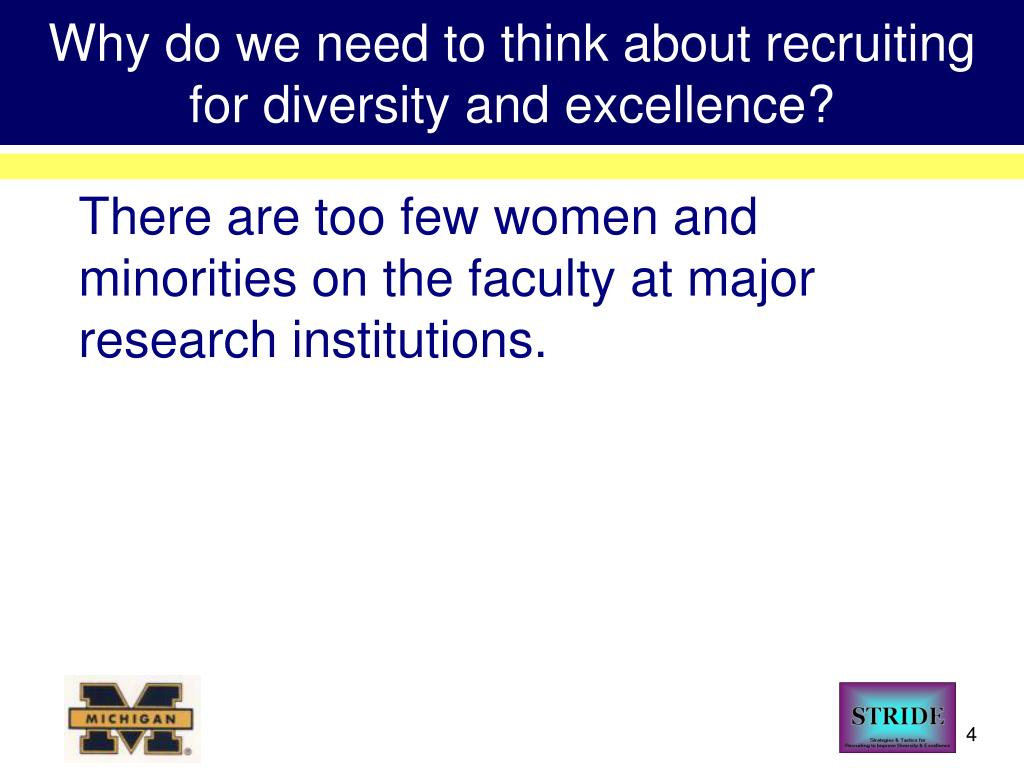 Why do we need to think about recruiting