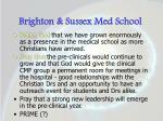 brighton sussex med school