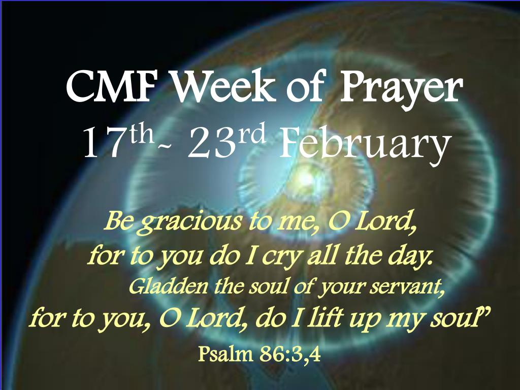 cmf week of prayer 17 th 23 rd february