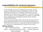 responsibilities for mentors sponsors