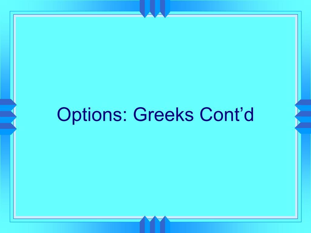 options greeks cont d l.