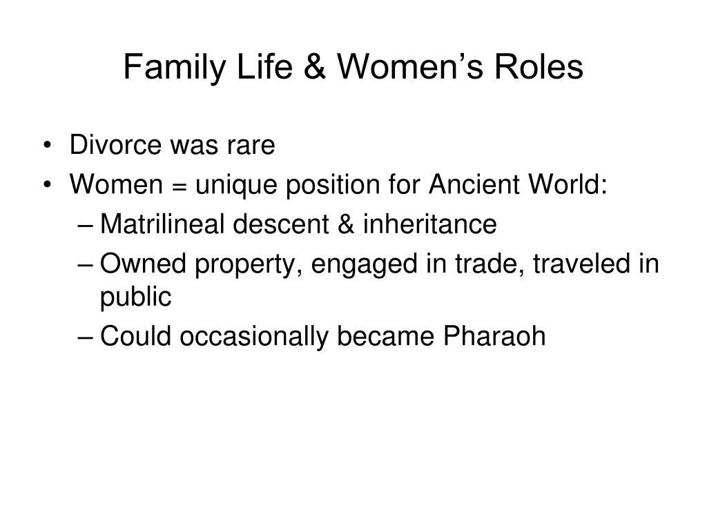 Family Life & Women's Roles