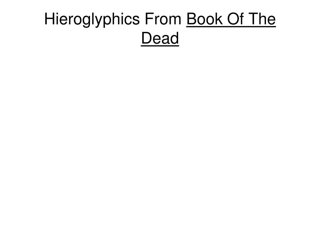 Hieroglyphics From