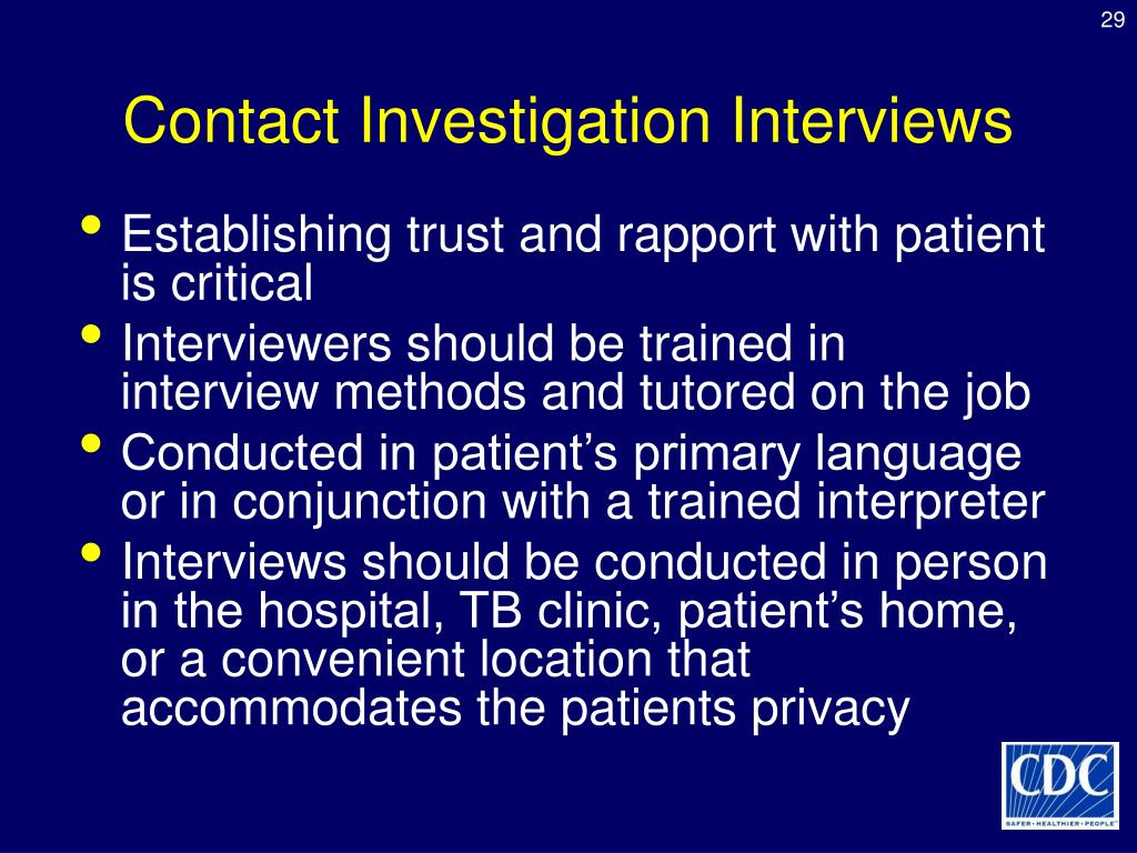 Contact Investigation Interviews