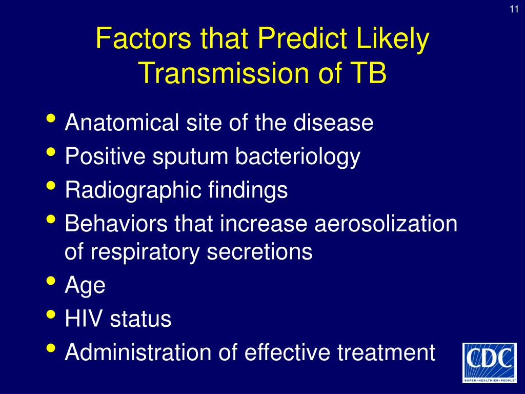 Factors that Predict Likely Transmission of TB