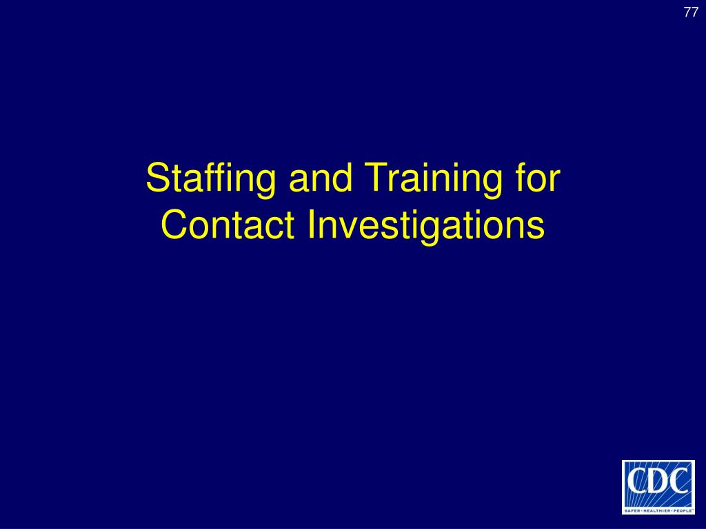 Staffing and Training for