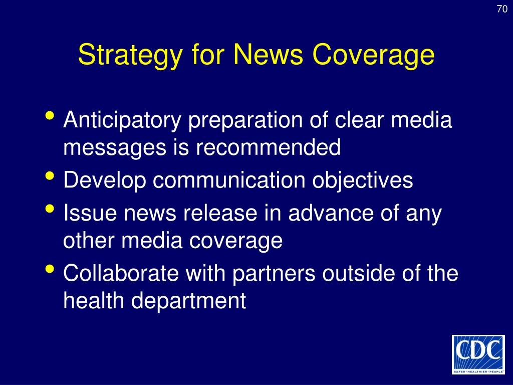 Strategy for News Coverage