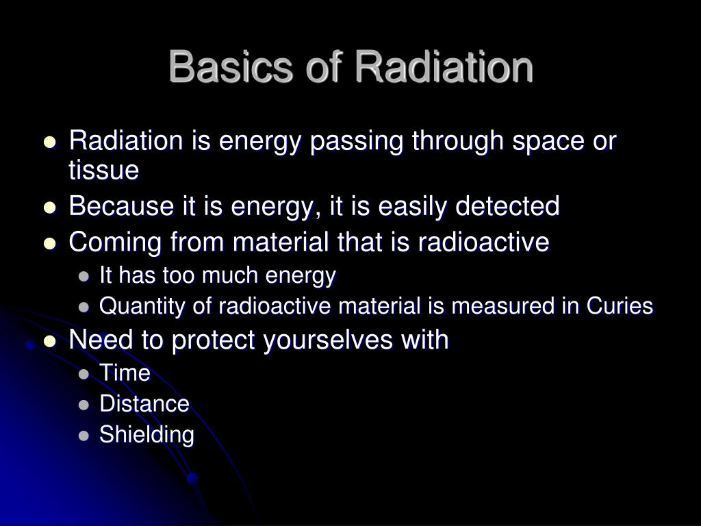 Basics of Radiation