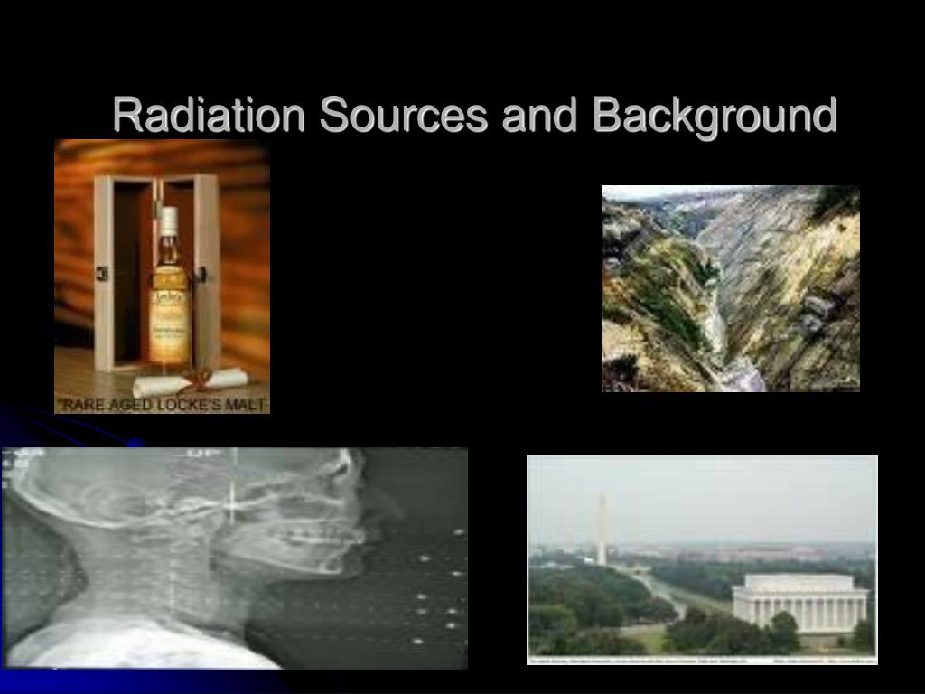 Radiation Sources and Background