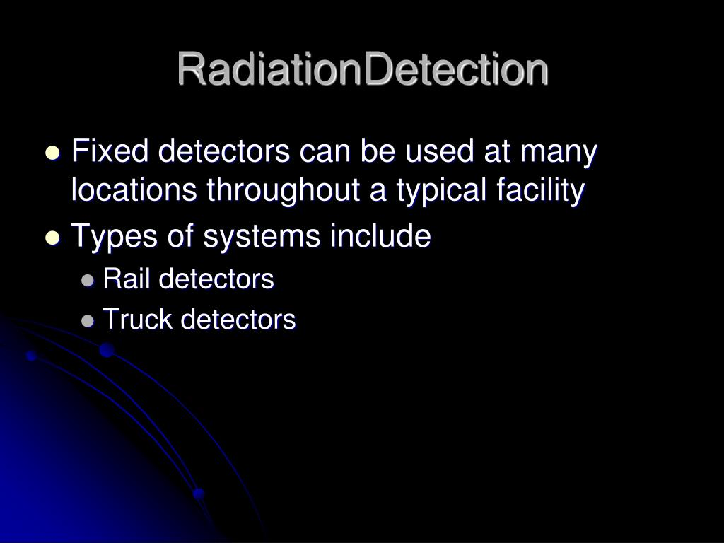 RadiationDetection