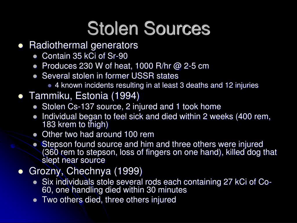 Stolen Sources