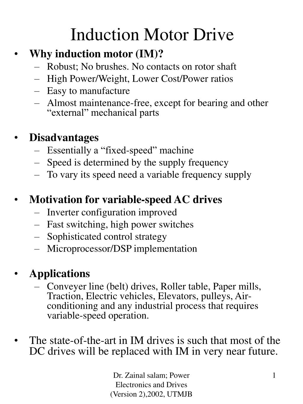 Ppt Induction Motor Drive Powerpoint Presentation Free Download Id 240937