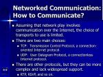 networked communication how to communicate