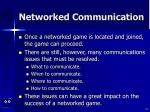 networked communication