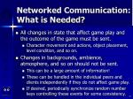 networked communication what is needed47