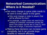 networked communication where is it needed