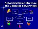 networked game structure the dedicated server model