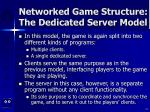 networked game structure the dedicated server model14