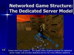 networked game structure the dedicated server model16