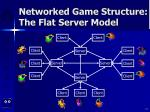 networked game structure the flat server model