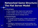 networked game structure the flat server model19