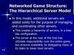 networked game structure the hierarchical server model21