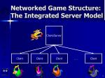 networked game structure the integrated server model