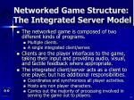 networked game structure the integrated server model10