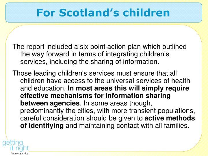 For Scotland's children