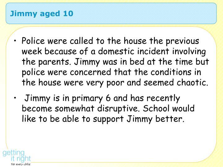 Jimmy aged 10