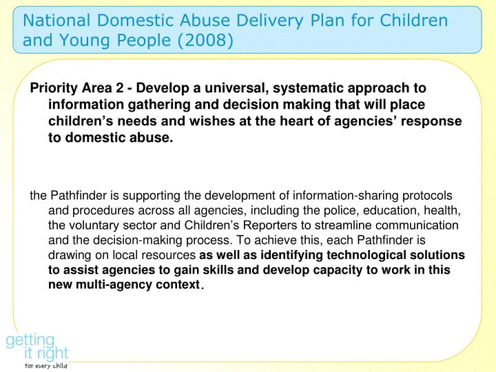 National Domestic Abuse Delivery Plan for Children and Young People (2008)