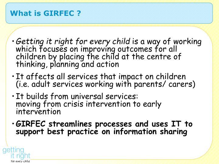 What is GIRFEC ?