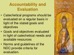 accountability and evaluation