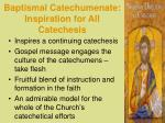 baptismal catechumenate inspiration for all catechesis