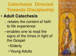catechesis directed towards discipleship