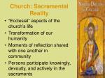church sacramental reality