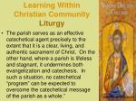 learning within christian community liturgy