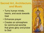 sacred art architecture and music