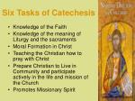 six tasks of catechesis