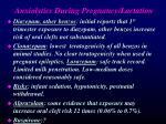anxiolytics during pregnancy lactation