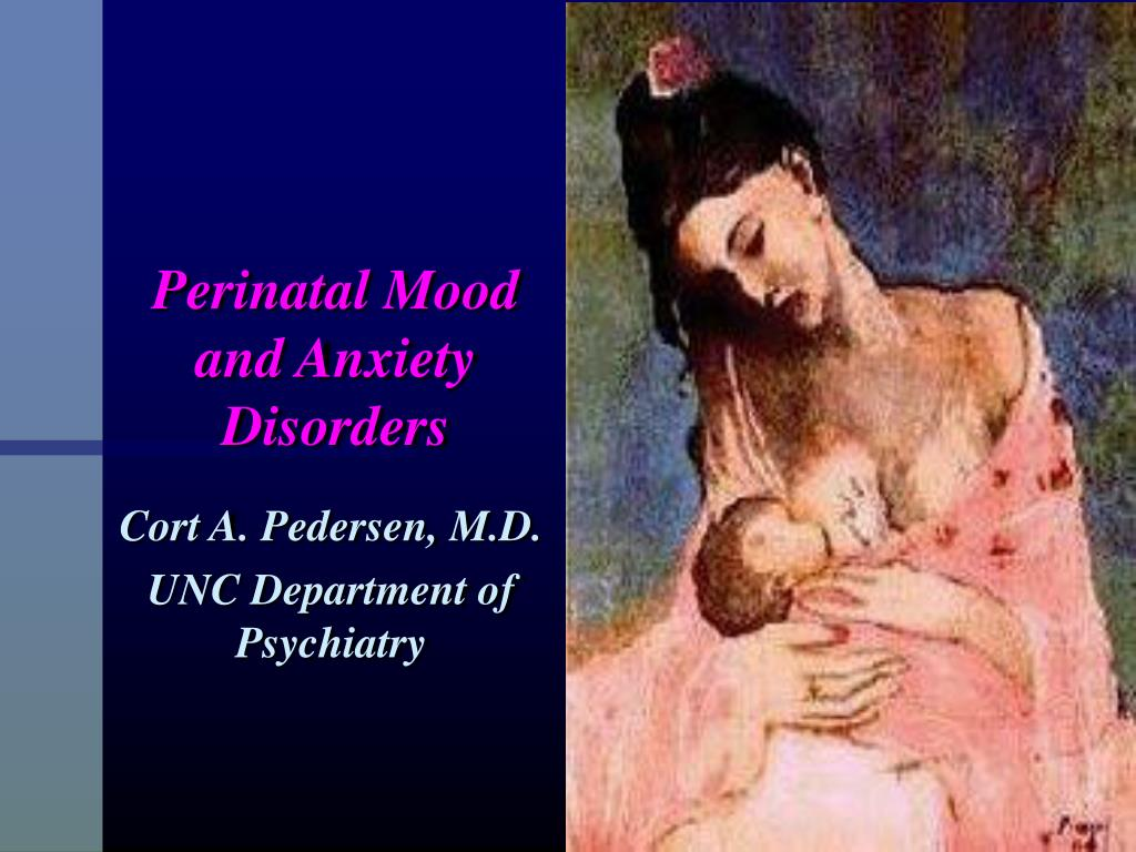 perinatal mood and anxiety disorders