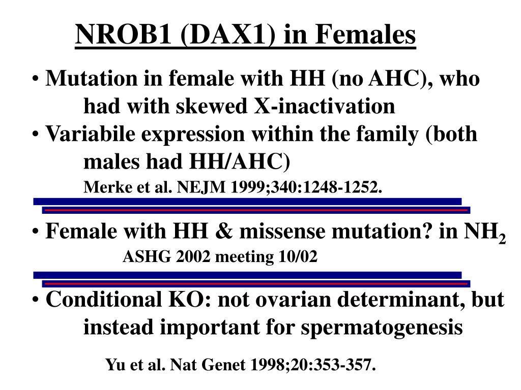 NROB1 (DAX1) in Females