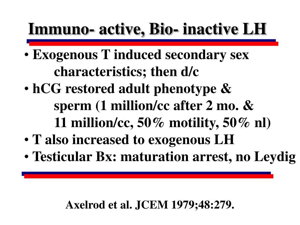 Immuno- active, Bio- inactive LH