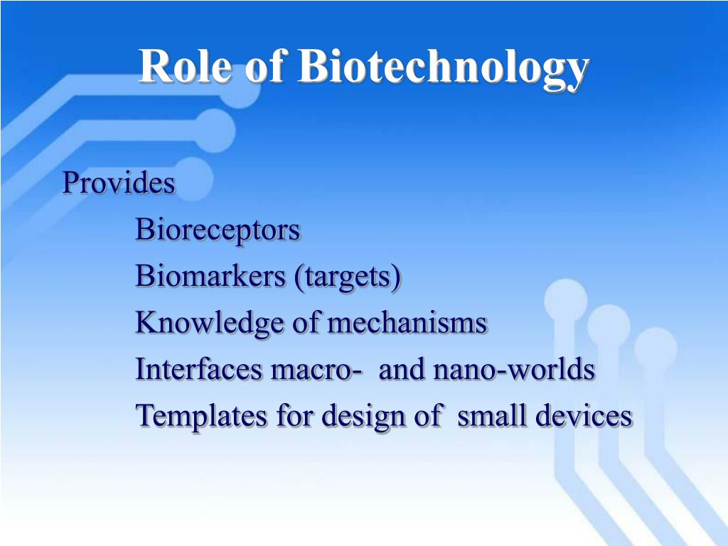Role of Biotechnology