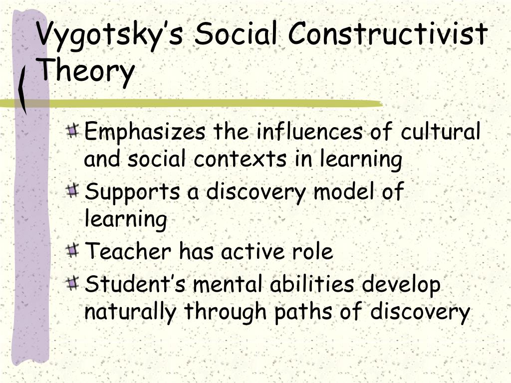 vygotsky on the importance of social Very readable account of this important development in the study of cognition 2   how it occupies a certain propositional role (vygotsky and the social.